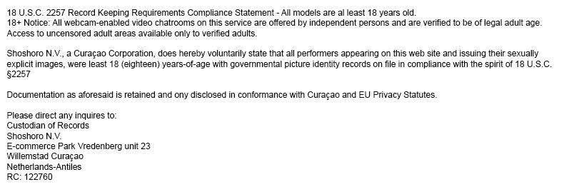 18 U.S.C. § 2257 Compliance