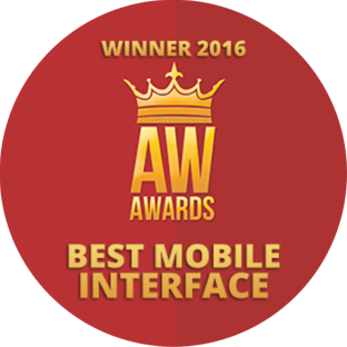 WINNER - Best mobile interface